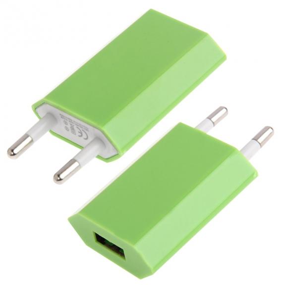 AppleKing nabíječka / adaptér pro iPhone / iPod Touch (5V / 1A) - zelená - možnost vrátit zboží ZDARMA do 30ti dní
