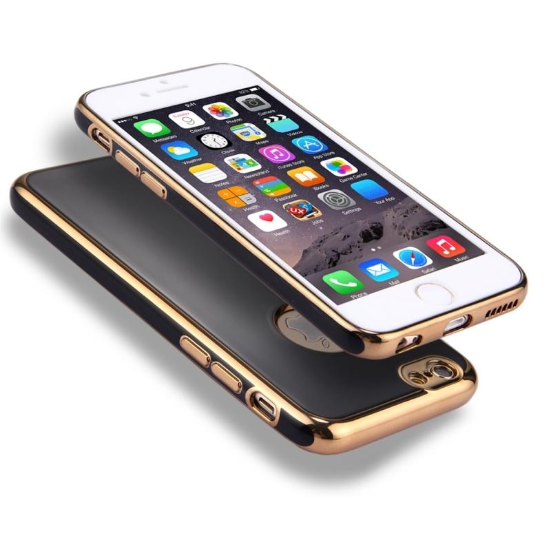 Obal na iPhone 6 Plus   6S Plus s 360° ochranou a lesklými hranami ... 2fccc41aae5