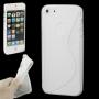 """Ochranný plastový kryt """"S line"""" pro iPhone 5 / 5S / SE - průhledný"""