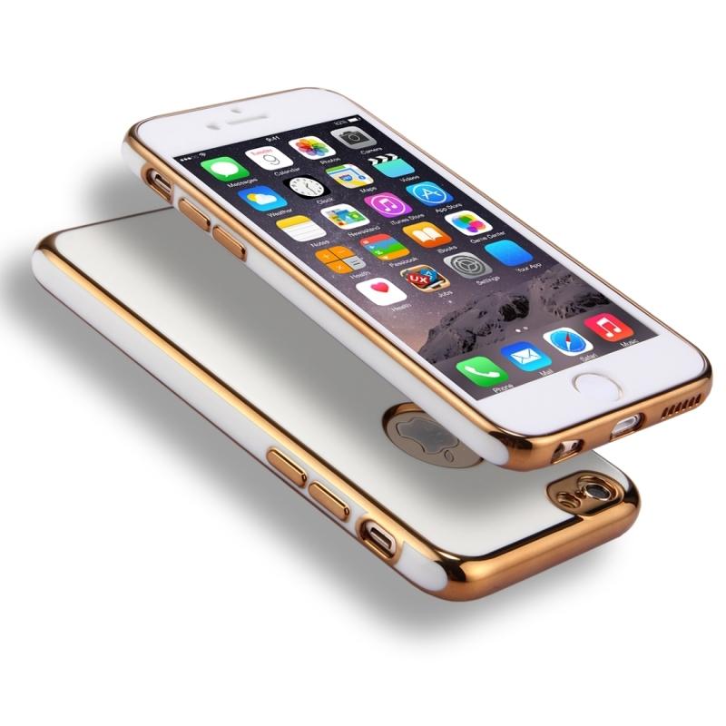 Obal na iPhone 6 Plus   6S Plus s 360° ochranou a lesklými hranami ... 259721f897e