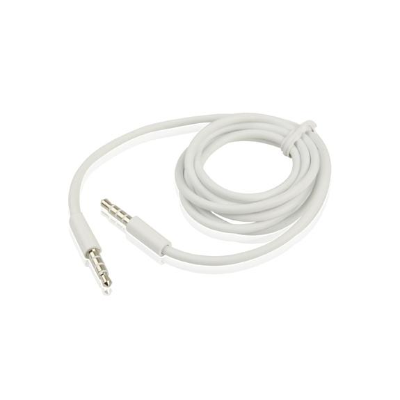 Propojovací kabel - 3.5mm audio jack - bílý
