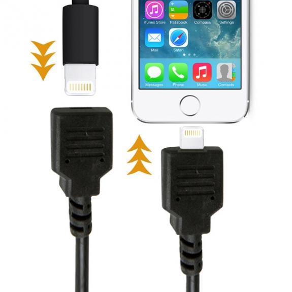 AppleKing prodlužovací kabel lightning Male / Female pro iPhone / iPad / iPod - 1m - černý - možnost vrátit zboží ZDARMA do 30ti dní