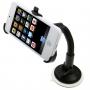 Polohovatelný držák na čelní sklo nebo palubní desku automobilu s přísavkou pro iPhone 5 / 5C / 5S / SE - černý