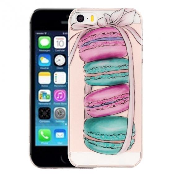 AppleKing kryt na iPhone 5 / 5S / SE - výtvarné zpracování - makronky - možnost vrátit zboží ZDARMA do 30ti dní