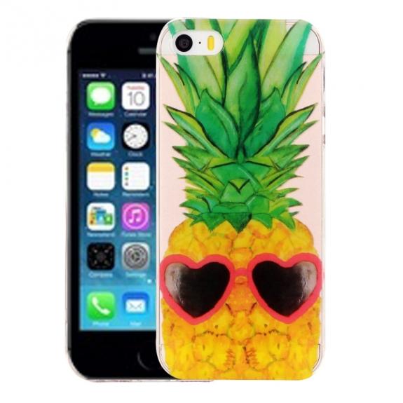 AppleKing kryt na iPhone 5 / 5S / SE - výtvarné zpracování - ananas - možnost vrátit zboží ZDARMA do 30ti dní
