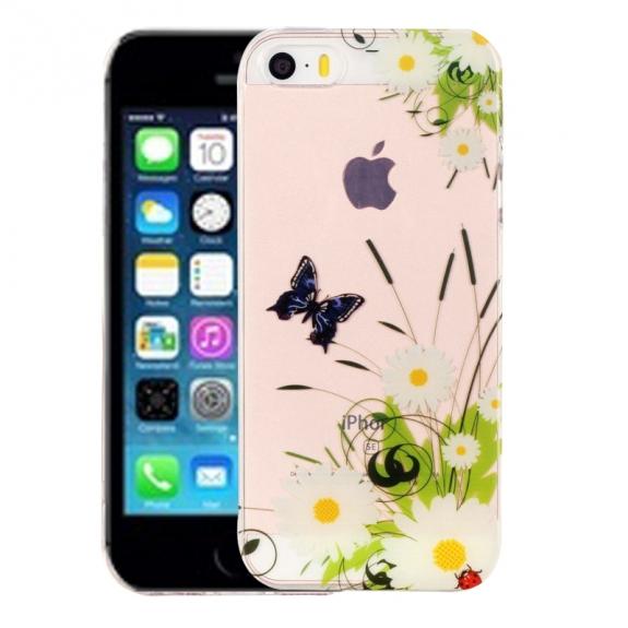 AppleKing kryt na iPhone 5 / 5S / SE - výtvarné zpracování - chryzantéma - možnost vrátit zboží ZDARMA do 30ti dní