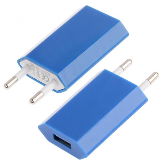 AppleKing nabíječka / adaptér pro iPhone / iPod Touch (5V / 1A) - modrá - možnost vrátit zboží ZDARM
