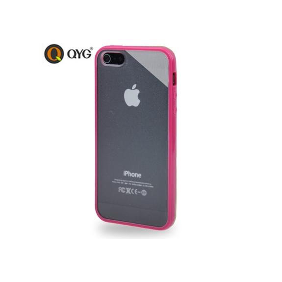 AppleKing ochranný průhledný plastový kryt s rámečkem pro iPhone 5   5S    SE - růžový 26602fd1e61