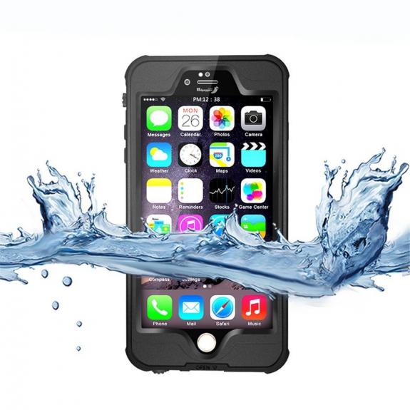 AppleKing voděodolný a prachuvzdorný IP68 obal na iPhone 6 Plus   6S Plus -  černý - 05610e3c93f