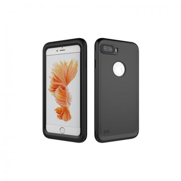 Vodotěsné pouzdro na potápění do hloubky 3m pro iPhone 8 Plus / 7 Plus - černé - možnost vrátit zboží ZDARMA do 30ti dní