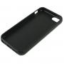 Gumový hladký kryt pro iPhone 5 / 5S / SE - černý
