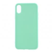 Leský gumový kryt na iPhone X - tyrkysový