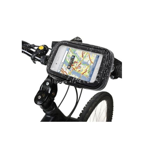 Voděodolné pouzdro s držákem na kolo / motorku pro Apple iPhone 4 / 4S - černé