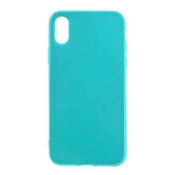 AppleKing lesklý gumový kryt na iPhone XS / iPhone X - tyrkysový - možnost vrátit zboží ZDARMA do 30ti dní