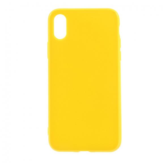 AppleKing lesklý gumový kryt na iPhone XS / iPhone X - žlutý - možnost vrátit zboží ZDARMA do 30ti dní