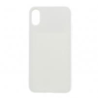 Leský gumový kryt na iPhone X - bílý