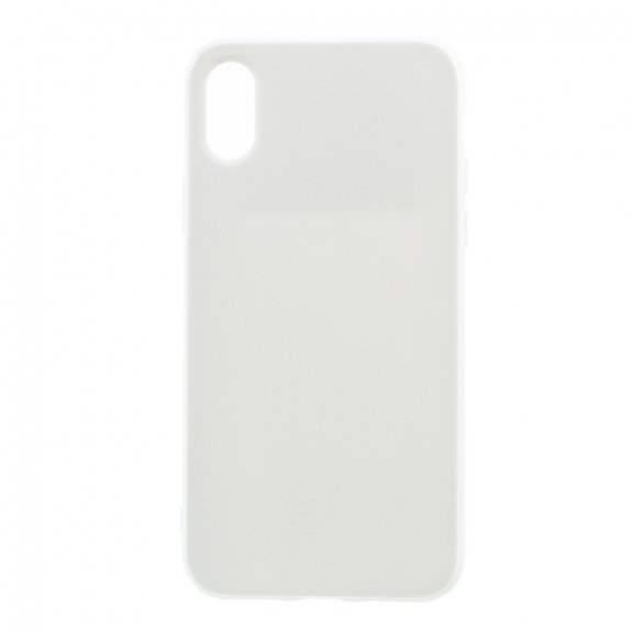 AppleKing lesklý gumový kryt na iPhone XS / iPhone X - bílý - možnost vrátit zboží ZDARMA do 30ti dní