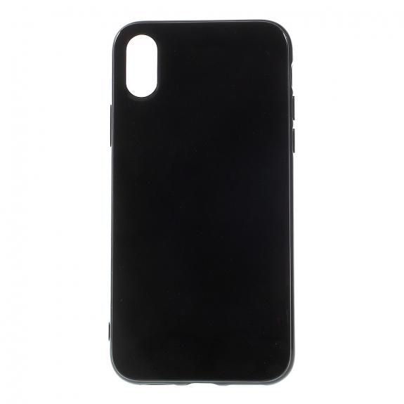 AppleKing lesklý gumový kryt na iPhone XS / iPhone X - černý - možnost vrátit zboží ZDARMA do 30ti dní