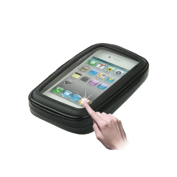 AppleKing voděodolné pouzdro s držákem na kolo / motorku pro iPhone 4 / 4S - černé - možnost vrátit zboží ZDARMA do 30ti dní