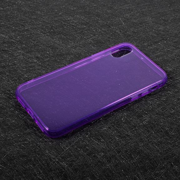 AppleKing tenký poloprůhledný kryt na iPhone XS / iPhone X - fialový - možnost vrátit zboží ZDARMA do 30ti dní