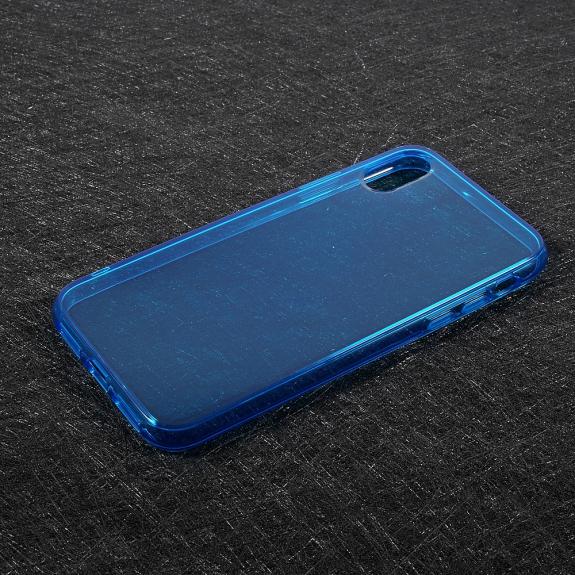 AppleKing tenký poloprůhledný kryt na iPhone XS / iPhone X - modrý - možnost vrátit zboží ZDARMA do 30ti dní