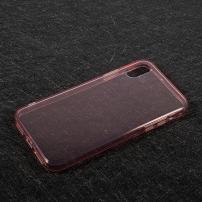 Tenký poloprůhledný kryt na iPhone X - růžový
