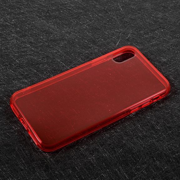 AppleKing tenký poloprůhledný kryt na iPhone XS / iPhone X - červený - možnost vrátit zboží ZDARMA do 30ti dní