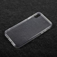 Tenký poloprůhledný kryt na iPhone X - průhledný