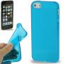 Ochranný poloprůhledný kryt pro iPhone 5 / 5S / SE - modrý