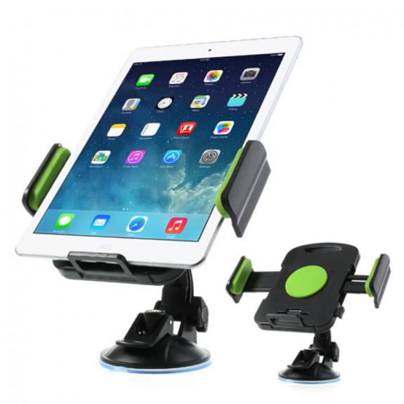 AppleKing držák do auta na iPad s přísavkou - otočný 360° - zelený - možnost vrátit zboží ZDARMA do 30ti dní