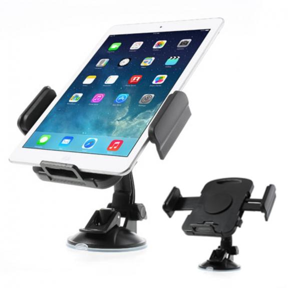 AppleKing držák do auta na iPad s přísavkou - otočný 360° - černý - možnost vrátit zboží ZDARMA do 30ti dní