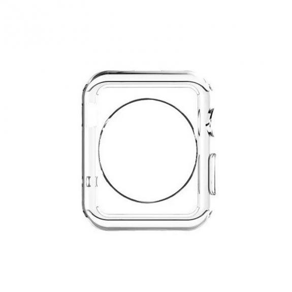AppleKing gumové pouzdro pro Apple Watch 42mm (tl. 0,8mm) - průhledné - možnost vrátit zboží ZDARMA do 30ti dní