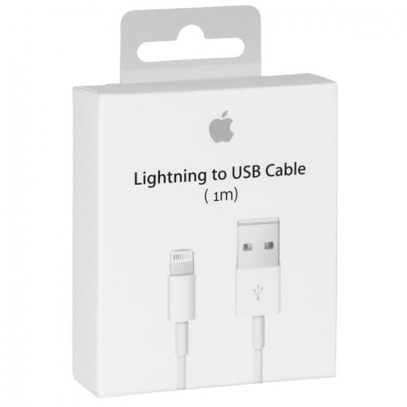 Originální Apple kabel v krabičce na iPhone / iPad / iPod - Lightning - MD818ZM/A - 1m - bílý - možnost vrátit zboží ZDARMA do 30ti dní