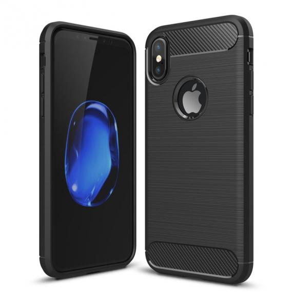 AppleKing odolný karbonový kryt na iPhone XS / iPhone X - černý - možnost vrátit zboží ZDARMA do 30ti dní