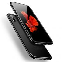 CAFELE plastový kryt s ochranou fotoaparátu pro iPhone XS / iPhone X - černý