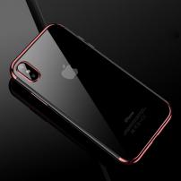 CAFELE plastový kryt s ochranou fotoaparátu pro iPhone XS / iPhone X - růžovozlatý