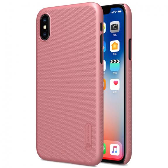 NILLKIN zadní kryt s ochranou displeje pro Apple iPhone XS / iPhone X - růžově zlatá - možnost vrátit zboží ZDARMA do 30ti dní