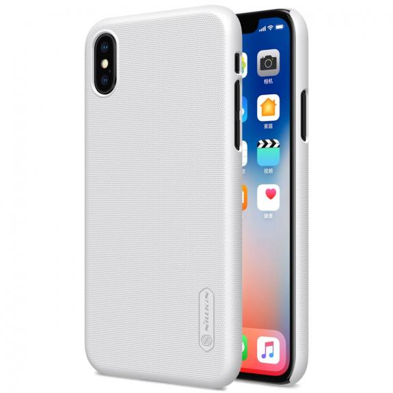 NILLKIN zadní kryt s ochranou displeje pro Apple iPhone XS / iPhone X - bílá - možnost vrátit zboží ZDARMA do 30ti dní