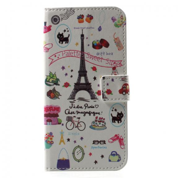AppleKing pouzdro se stojánkem a přihrádkami na doklady pro Apple iPhone XS / iPhone X - sladká Paříž - možnost vrátit zboží ZDARMA do 30ti dní