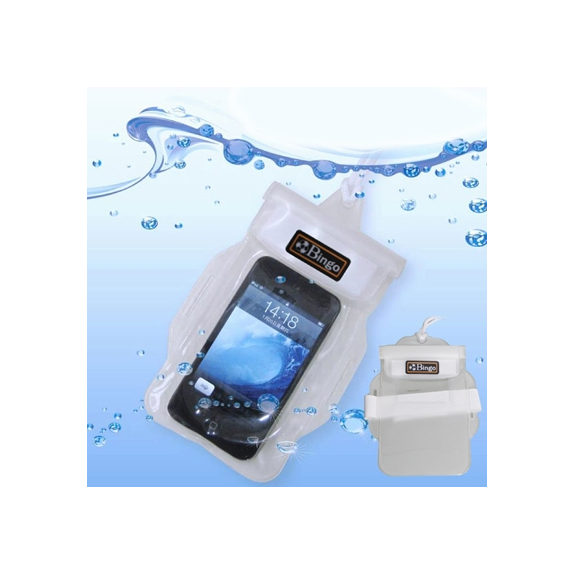 BINGO voděodolné pouzdro / obal s poutkem pro iPhone 5 / 5C / 5S / SE / 4 / 4S / 3G / 3GS - bílé - možnost vrátit zboží ZDARMA do 30ti dní
