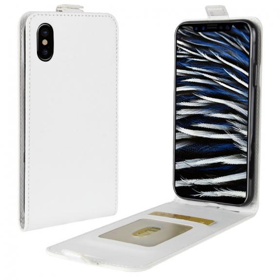 AppleKing vyklápěcí pouzdro s krytem a prostorem na doklady pro iPhone XS / iPhone X - bílá - možnost vrátit zboží ZDARMA do 30ti dní