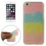 Gumový kryt pro iPhone 6 / 6S - třpytivý s hvězdičkami - vícebarevný