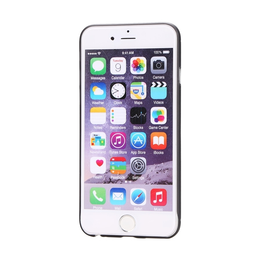 ... Tenký plastový kryt pro iPhone 6 Plus   6S Plus s ochranou čočky - černý  ... 22a81ebdca7