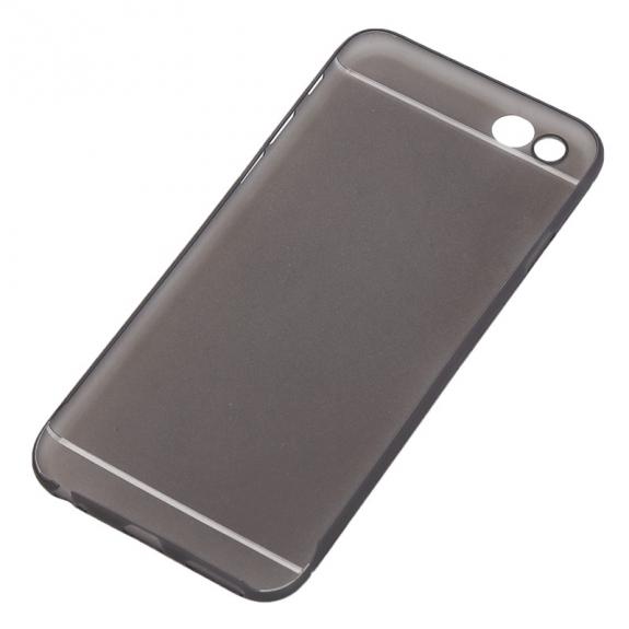 Tenký plastový kryt pro iPhone 6 Plus / 6S Plus s ochranou čočky - černý
