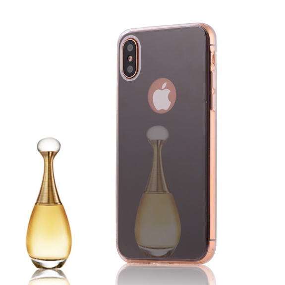 AppleKing zrcadlový ochranný kryt pro iPhone XS / iPhone X - černý - možnost vrátit zboží ZDARMA do 30ti dní