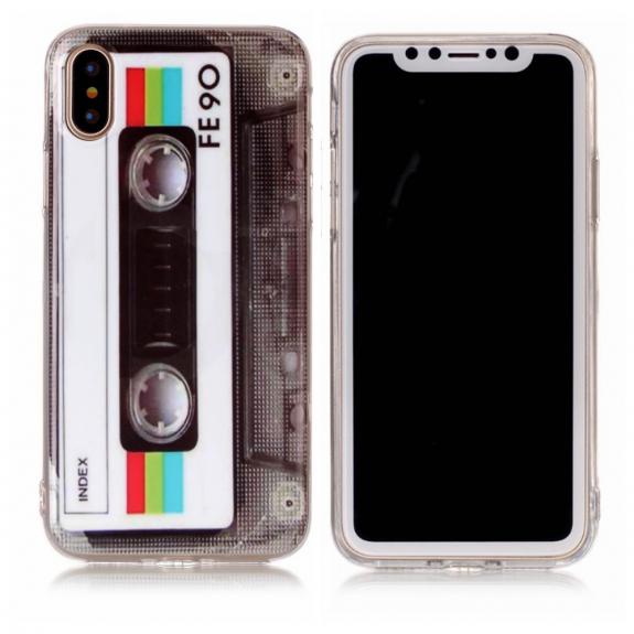 AppleKing plastový zadní kryt pro Apple iPhone XS / iPhone X - audio kazeta - možnost vrátit zboží Z