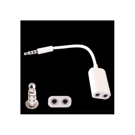 AppleKing rozbočovač / splitter / adapter pro Apple zařízení - z jednoho na dva 3.5mm jack konektory - možnost vrátit zboží ZDARMA do 30ti dní