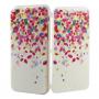 Otevírací / flip gumové pouzdro pro iPhone 6 / 6S - barevné lístky