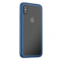 BASEUS ochranný rámeček pro Apple iPhone XS / iPhone X - modrá