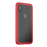 BASEUS ochranný rámeček pro Apple iPhone XS / iPhone X - červená